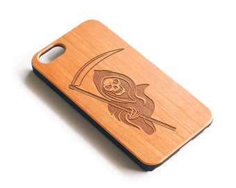 iPhone 6, Real Wood, Phone Case, iPhone 6S Case, iPhone 6 Plus, iPhone 6 Plus Cases, iPhone 6S Case,Grim Reaper, Cherry Wood, Gift