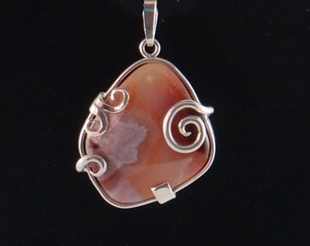 Beautiful Jasper S/S Pendant