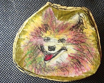 Wearable Art Pin..dog