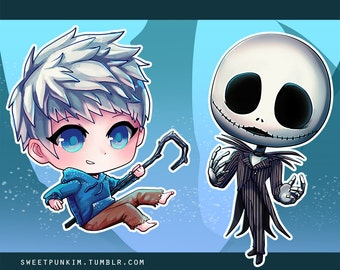 Stickers! Jack Frost and Jack Skellington