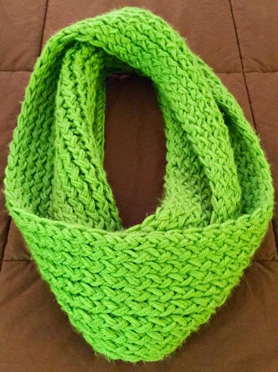 Loom Knitting Questions : Loom knit infinity scarf