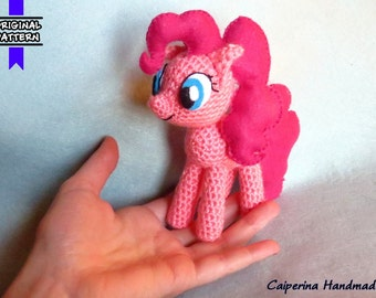 Pinkie Pie - My Little Pony - amigurumi - felt