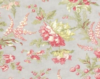 3 Sisters for Moda  Whitewashed Cottage Flourish Floral in Pebble Gray Blue 100% Cotton Quilt or Craft Fabric # 44061-14