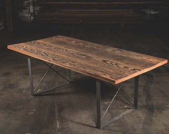 Reclaimed Wood Dining Table Fir Furniture Room Custom Made Salvaged