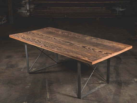 Reclaimed wood dining table fir furniture dining room Reclaimed wood furniture portland oregon