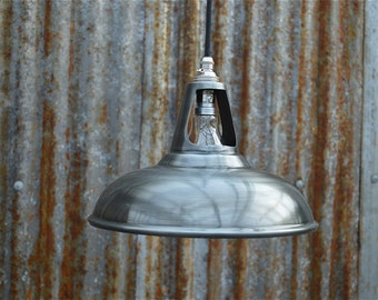 Vintage antique zinc  ceiling light vented hanging lamp shade factory industrial zcsr4