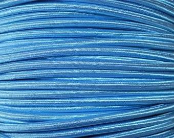 1 meter blue silk covered 3 core light flex B13