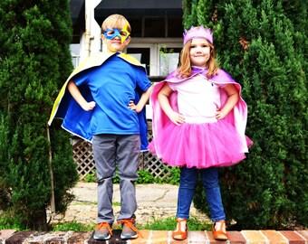 Kids Double Sided / Reversible Superhero Cape