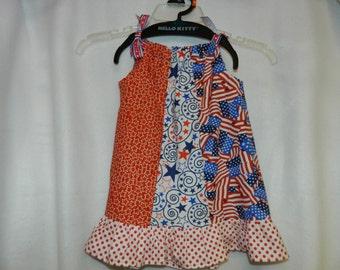 I Love America! Toddler Pillowcase Dress, Sundress, Ruffled Dress
