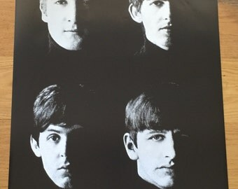 The beatles black and white poster 24 x 36