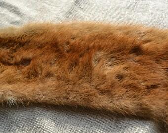 Fur collar, vintage fur collar, real fur collar, fur scraps, fur neckwarmer, old fur collar, light brown fur collar, fur, real fur