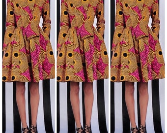 wrap coat dress in african fabric