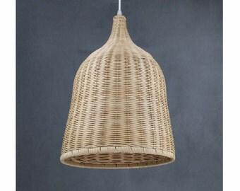 Hand Woven From Rattan Lightings-Pendant Lights-One Lampholder 110-240V-Pendant Lamps-Droplamp-Ceiling lightings-Home or Bar deco Lighting