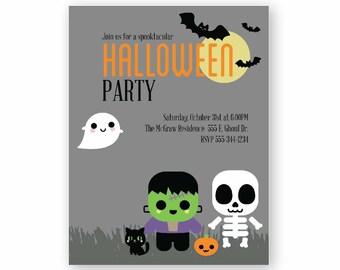 Halloween Party Theme Invitations
