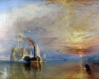 William Turner: The Fighting Temeraire. Fine Art Print/Poster (00229)