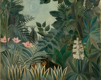 Henri Rousseau: The Equatorial Jungle. Fine Art Print/Poster. (003548)