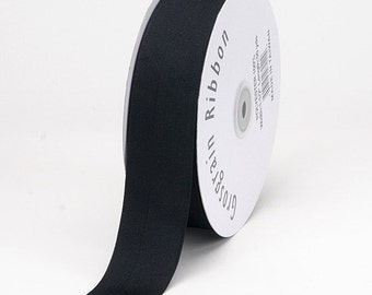 "Going Out Of Business 2"" Black Grosgrain Ribbon- 2 inch Ribbon- 5 Yards of solid Grosgrain Ribbon-WHOLESALE GROSGRAIN"