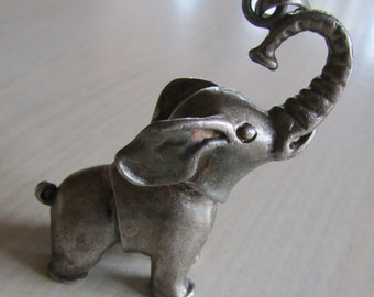 Cute Sterling Silver Hinged Moving Elephant Pendant