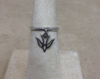 Vintage Avery Sterling Silver Dove Ring - Size 5