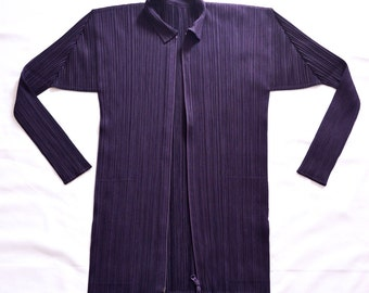 Pleats Please shirt/top/jacket/coat  violet Size 5 ISSEY MIYAKE