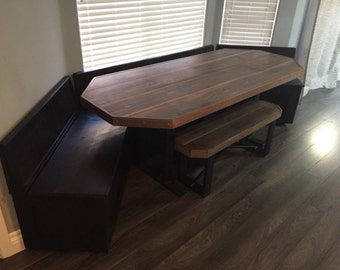 """Custom Built-in """"Slim Line"""" Storage Bench with Table"""