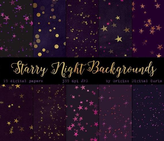purple and gold stars - photo #36