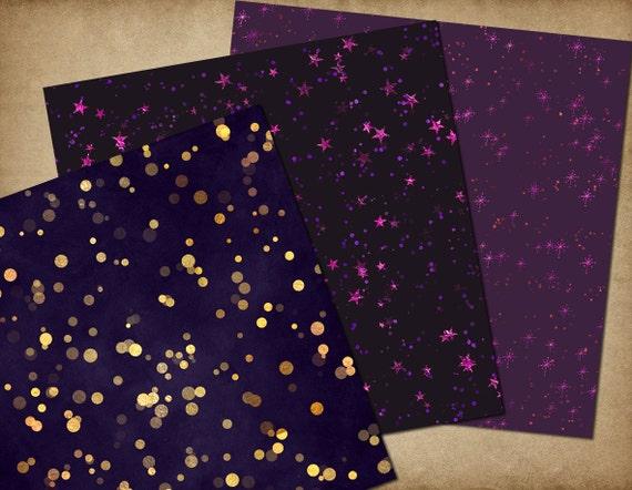 purple and gold stars - photo #44