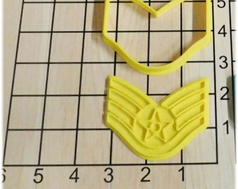 US Air Force Staff Sergeant Cookie Cutter and Stamp #1057