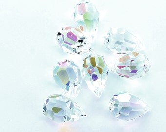 Preciosa AB crystal 20x12 mm pendant drops.  Price is for 1 pendant