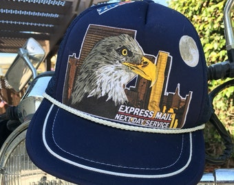 SALE Vintage US Post Office Express Mail Trucker Hat