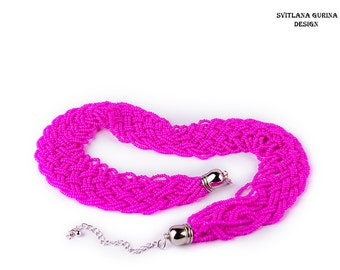 Free shipping bright boho necklace fuchsia pink Women Jewelry Cool necklace Statement necklace lovely necklace Summer necklace