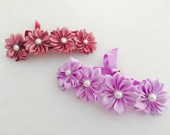 Lotus flowers bun wreath