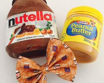 Nutella and peanut butter hair bows