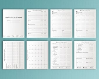 Finance Planner Big Happy Planner Printable Letter Size Financial Planner Expense Tracker Budget Planner Printable Insert PDF