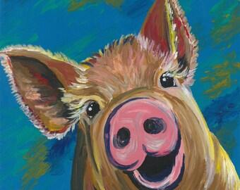 """Pig Print Instant Download """"Wilbur"""""""