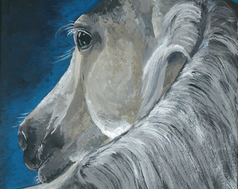 Horse art, horse print, horse art prints from original horse on canvas painting.