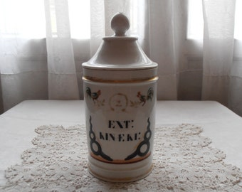 A French vintage apothecary jar