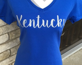 NEW Kentucky Ladies Vneck Shirt