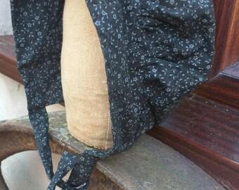 Primitive Folk Art Millinery Head & Amish Kapp