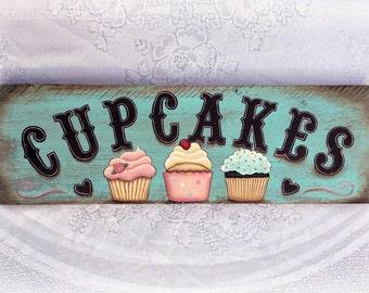 Vintage Cupcake Signboard Resturant Signboard Bakery Signboard Cupcake Decor Vintage Food Sign