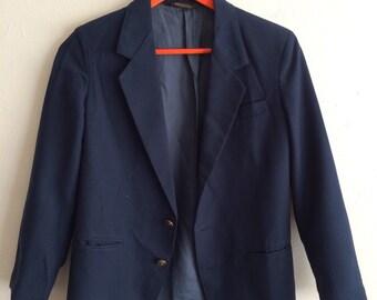 SALE Vintage 80s preppy navy blazer