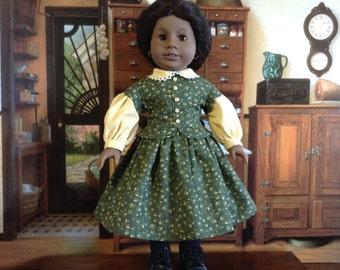 American Girl Green Civil War Dress
