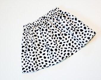 B&W Dalmatian Skirt – You Choose Size