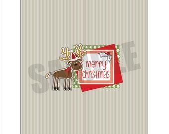 Merry Christmas Reindeer Candy Bar Wrapper