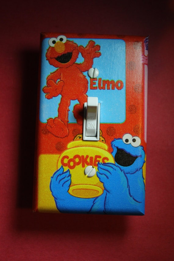 sesame street cookie monster elmo light switch cover boys girls