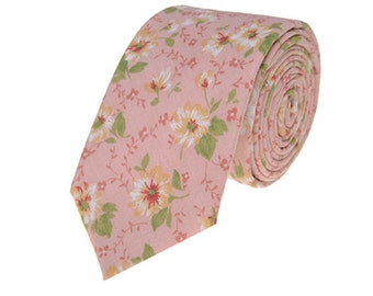 Pink Floral Wedding Ties.Pink Wedding.Tie Accessories.Suit Accessories.Gift For Birthday