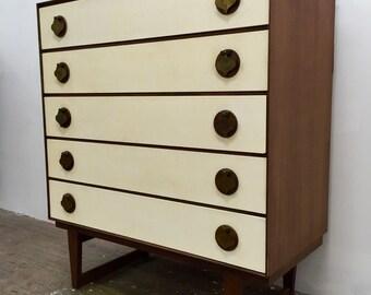 """Mid Century Danish Modern """"Spade Handle"""" Dresser by Stanley"""
