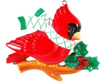Red Cardinal Personalized Cardinal Ornament