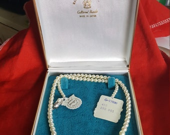 Vintage Maruwa Pearl Co. Cultured Pearl Necklace NEW!