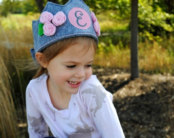 Princess Crown - Birthday Crown Girl - Birthday Hats for Girls - Flower Crown Girl - Personalized Girl Gifts  - Girls Crown